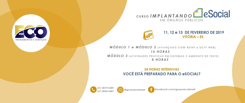 IMPLANTANDO O eSOCIAL 11-13 DE FEVEREIRO